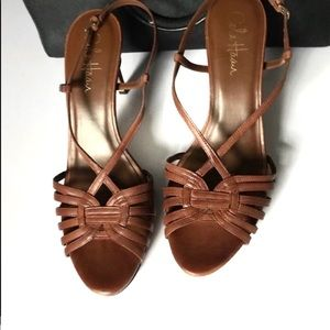 Cole Haan Brown Strappy Sandals